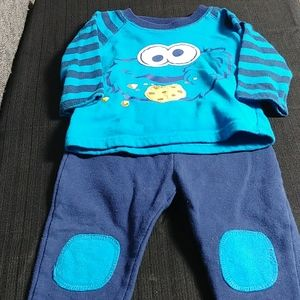 Cookie Monster Matching Set
